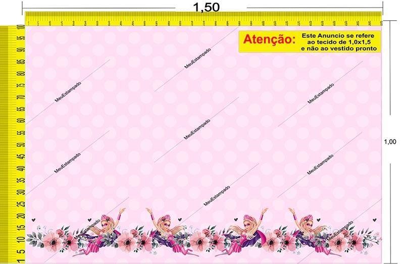 Tecido Temático - Barbie 1,0x1,5 #128
