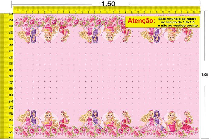 Tecido Temático - Barbie 1,0x1,5 #210