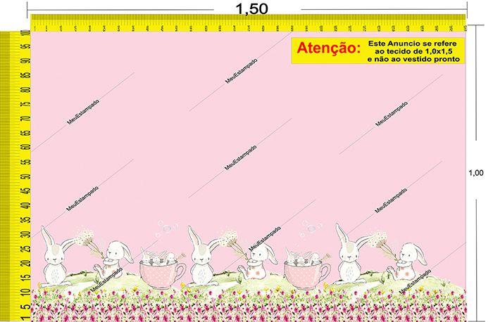 Tecido Temático - Coelhinho 1,0x1,5 #03