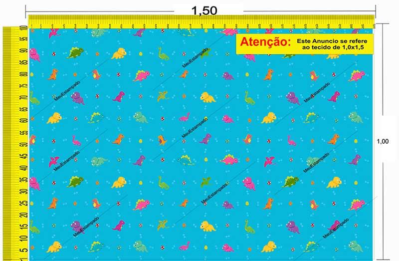 Tecido Temático - Dinossauro 1,0x1,5 #175