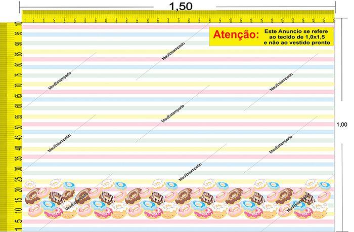 Tecido Temático - Donuts 1,0x1,5 #15