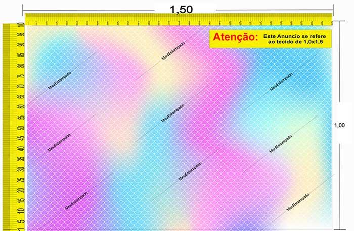 Tecido Temático - Escamas de Sereia / Tie Dye 1,0x1,5 #193