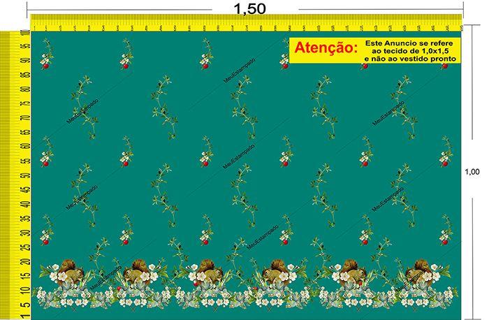Tecido Temático - Esquilo 1,0x1,5 #112