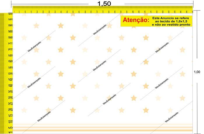 Tecido Temático - Estrela 1,0x1,5 #130