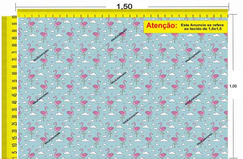 Tecido Temático - Flamingo 1,0x1,5 #148