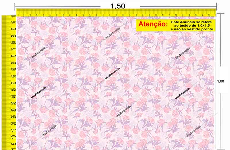 Tecido Temático - Floral 1,0x1,5 #136