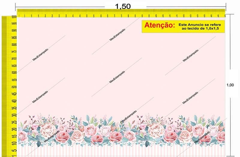 Tecido Temático - Floral 1,0x1,5 #142