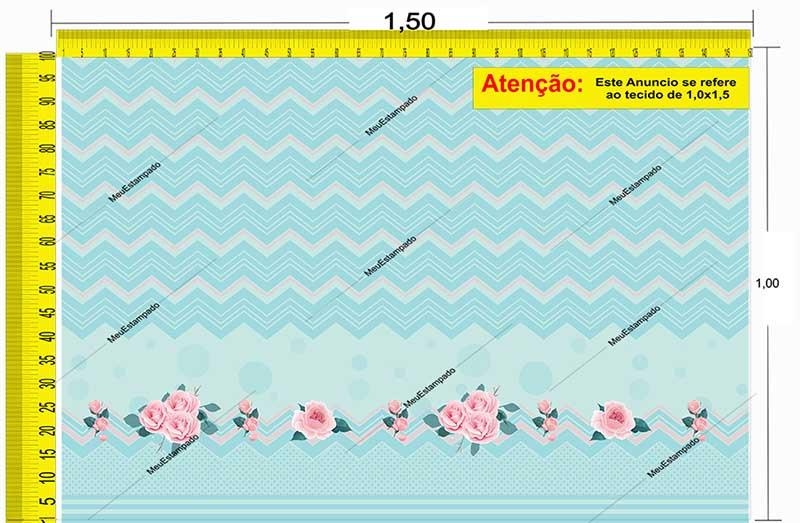 Tecido Temático - Floral 1,0x1,5 #169