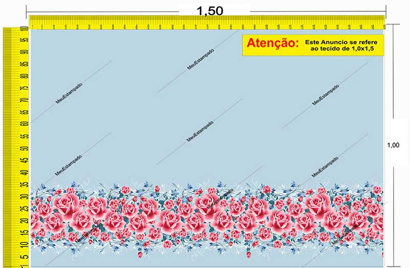 Tecido Temático - Floral 1,0x1,5 #170