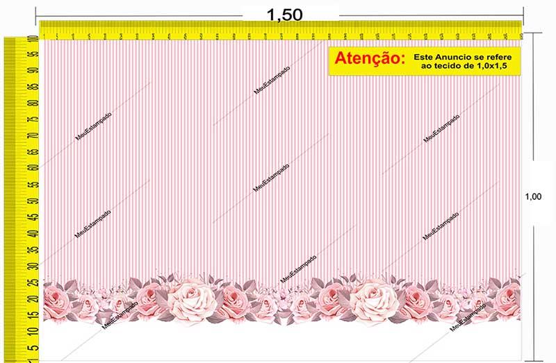 Tecido Temático - Floral 1,0x1,5 #172
