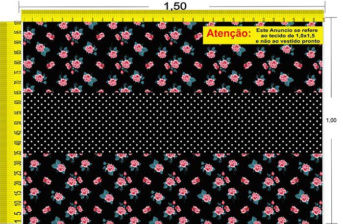 Tecido Temático - Floral 1,0x1,5 #173