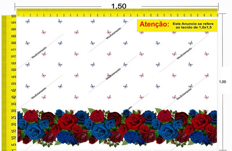 Tecido Temático - Floral 1,0x1,5 #177