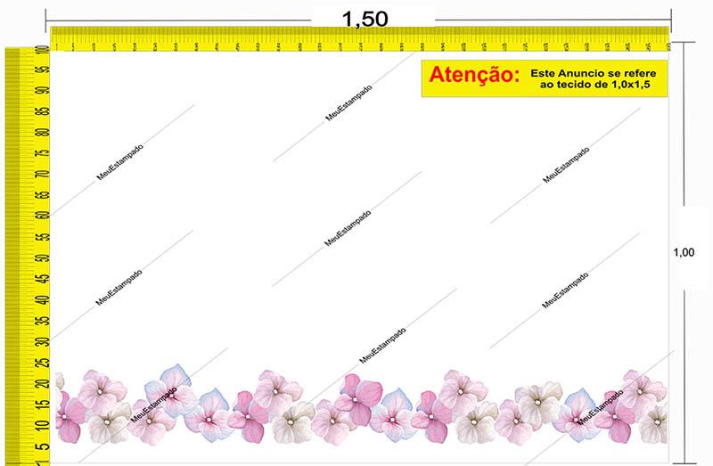Tecido Temático - Floral 1,0x1,5 #187