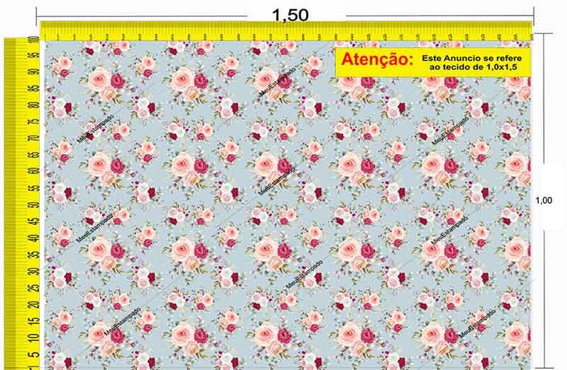 Tecido Temático - Floral 1,0x1,5 #225