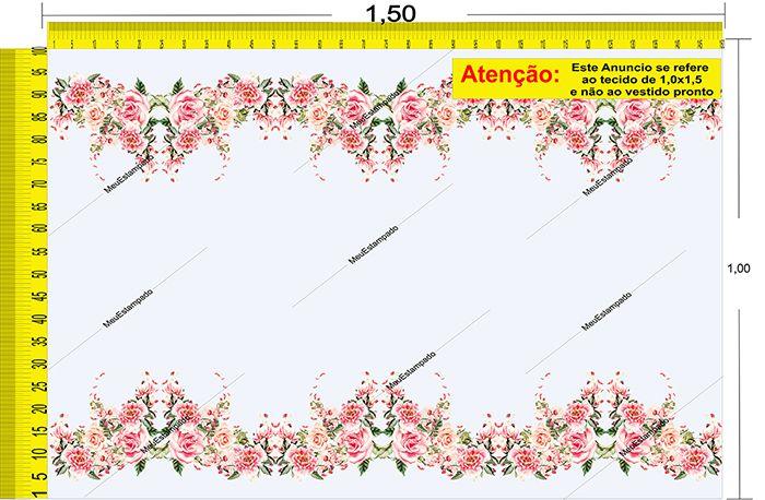 Tecido Temático - Floral 1,0x1,5 #23