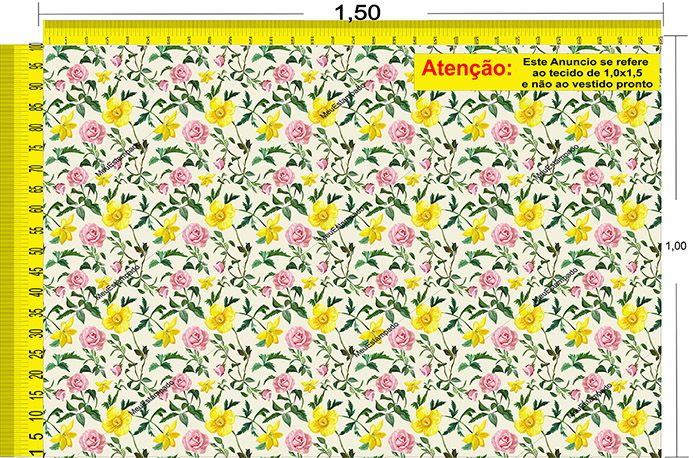 Tecido Temático - Floral 1,0x1,5 #26