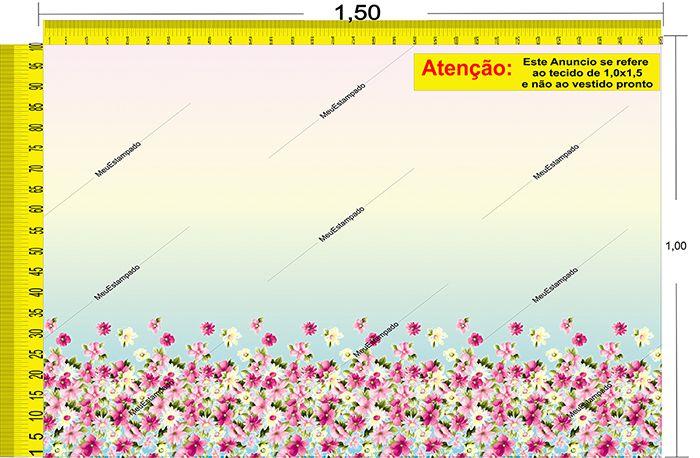 Tecido Temático - Floral 1,0x1,5 #27