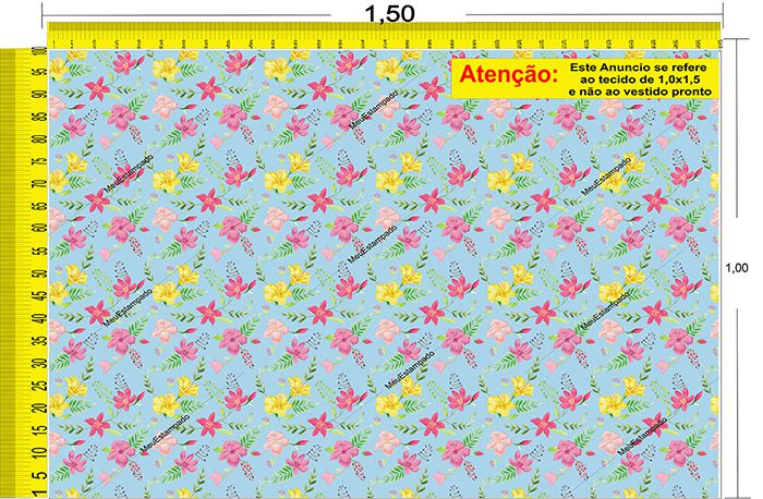 Tecido Temático - Floral 1,0x1,5 #29