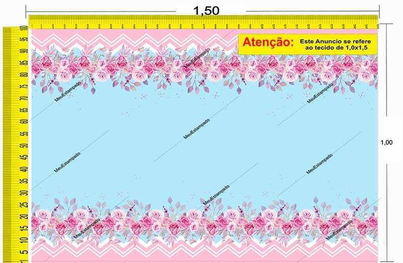Tecido Temático - Floral 1,0x1,5 #35