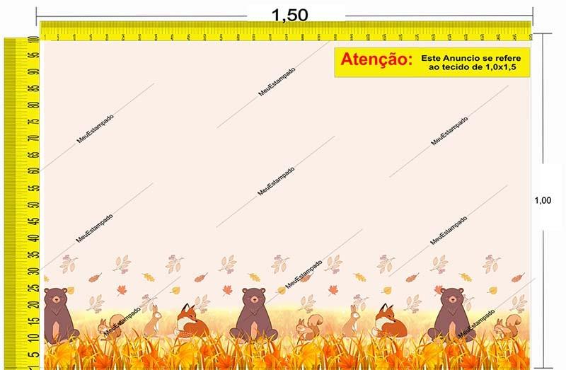 Tecido Temático - Floresta no Outono 1,0x1,5 #155