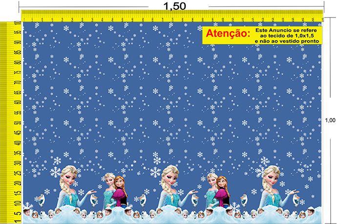 Tecido Temático - Frozen 1,0x1,5 #80