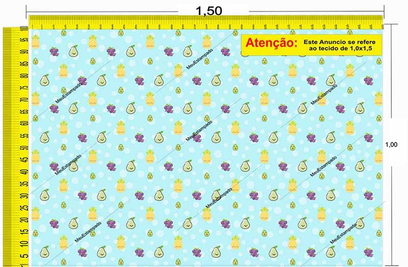 Tecido Temático - Frutinhas 1,0x1,5 #149