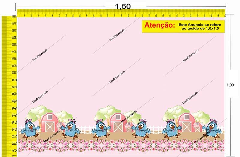 Tecido Temático - Galinha Pintadinha 1,0x1,5 #180