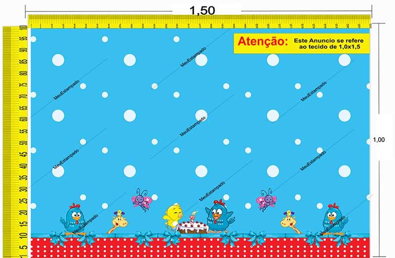 Tecido Temático - Galinha Pintadinha 1,0x1,5 #190