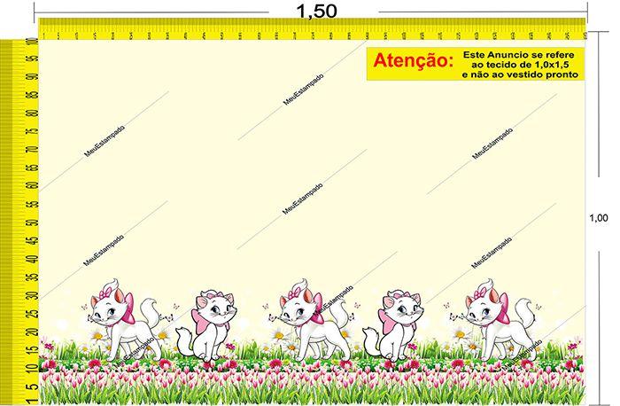 Tecido Temático - Gatinha Marie 1,0x1,5 #113