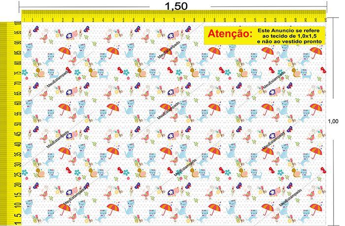 Tecido Temático - Gatinho 1,0x1,5 #04