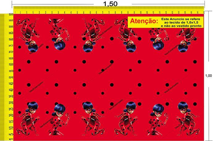 Tecido Temático - Ladybug 1,0x1,5 #45