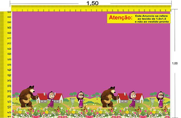 Tecido Temático - Masha e o Urso 1,0x1,5 #64
