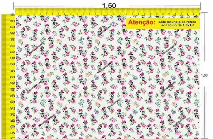 Tecido Temático - Minnie 1,0x1,5 #224