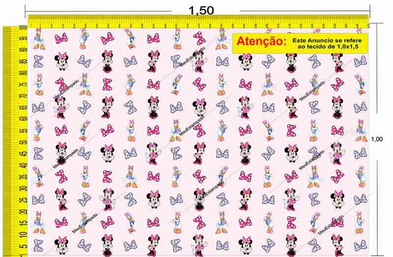 Tecido Temático - Minnie e Margarida 1,0x1,5 #223