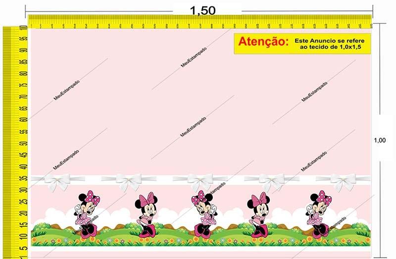 Tecido Temático - Minnie e Mickey Mouse 1,0x1,5 #158