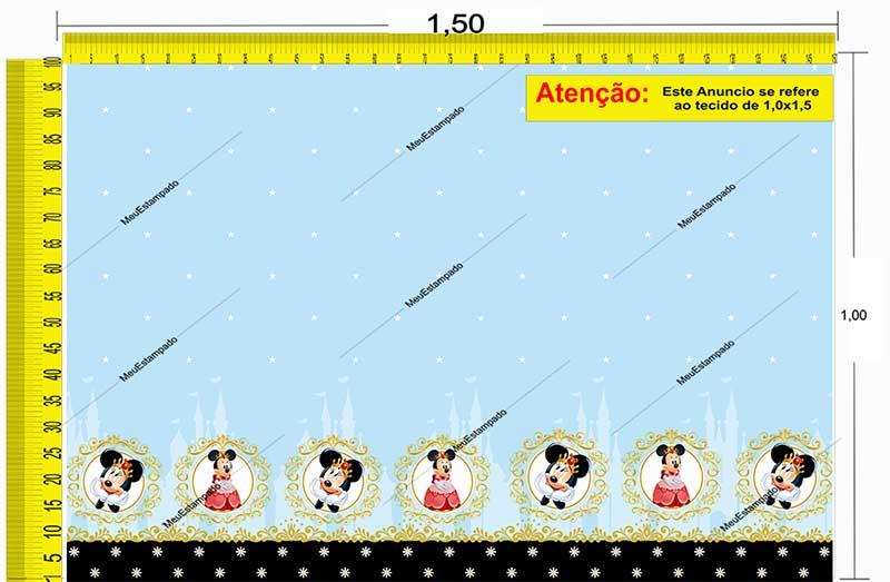 Tecido Temático - Minnie e Mickey Mouse 1,0x1,5 #197
