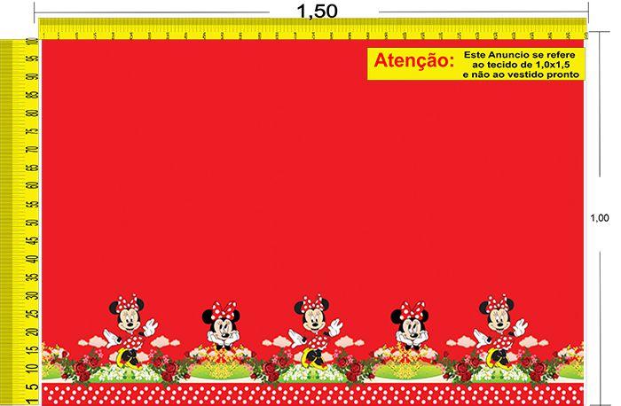 Tecido Temático - Minnie e Mickey Mouse 1,0x1,5 #72