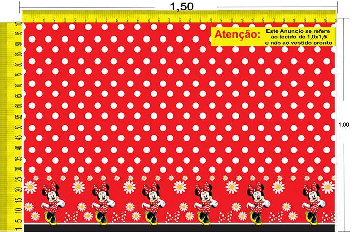 Tecido Temático - Minnie e Mickey Mouse 1,0x1,5 #73