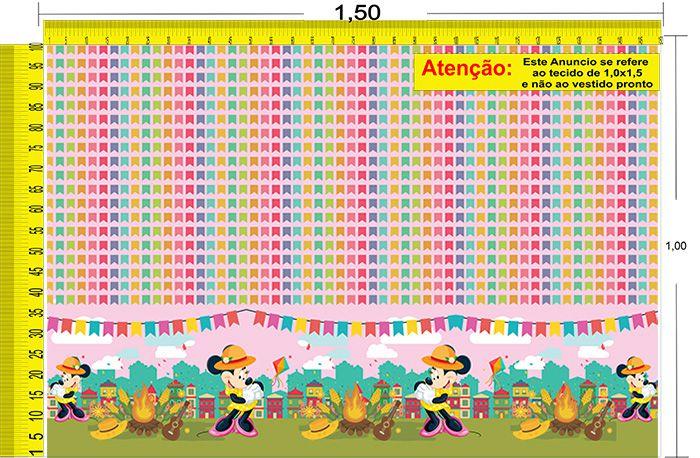 Tecido Temático - Minnie e Mickey Mouse 1,0x1,5 #75
