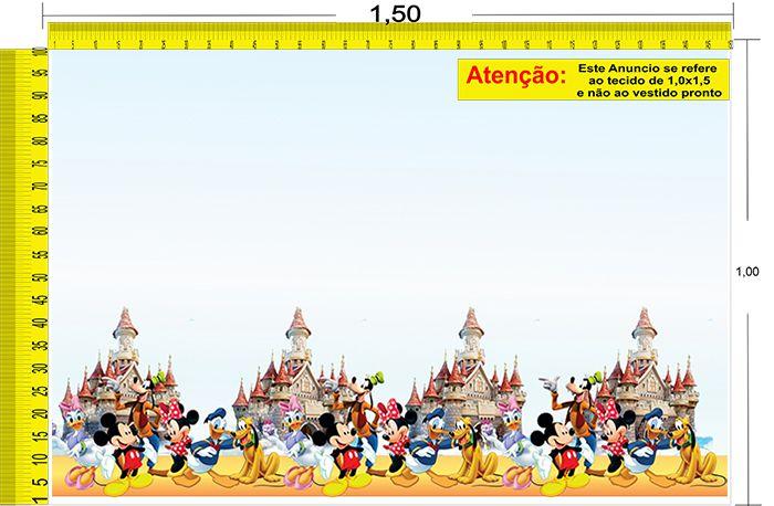 Tecido Temático - Minnie e Mickey Mouse 1,0x1,5 #76