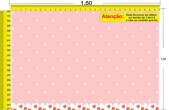 Tecido Temático - Morango 1,0x1,5 #146