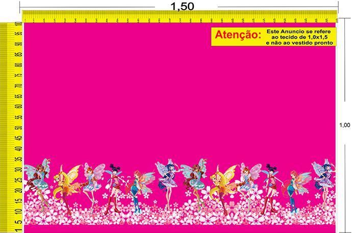 Tecido Temático - O Clube das Winx 1,0x1,5 #105