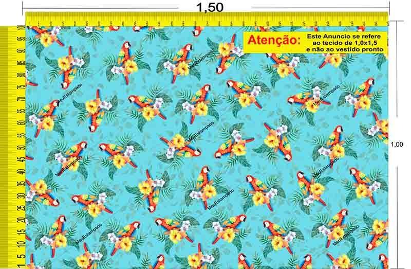 Tecido Temático - Pássaro 1,0x1,5 #135