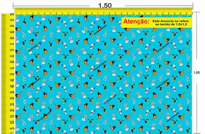 Tecido Temático - Patolino e Pernalonga 1,0x1,5 #186