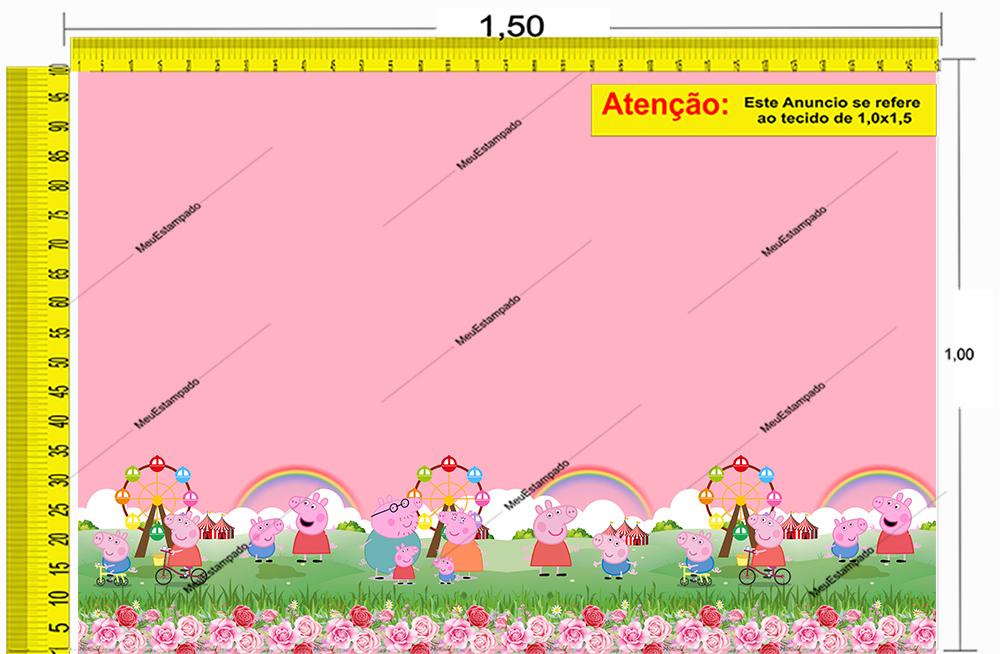 Tecido Temático - Peppa Pig 1,0x1,5 #233