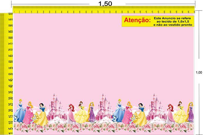 Tecido Temático - Princesas Disney 1,0x1,5 #92