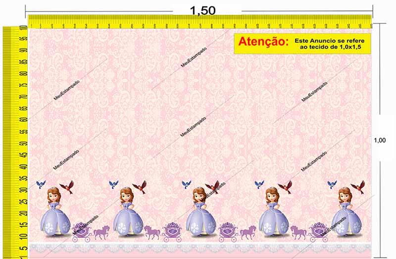 Tecido Temático - Princesinha Sofia 1,0x1,5 #157