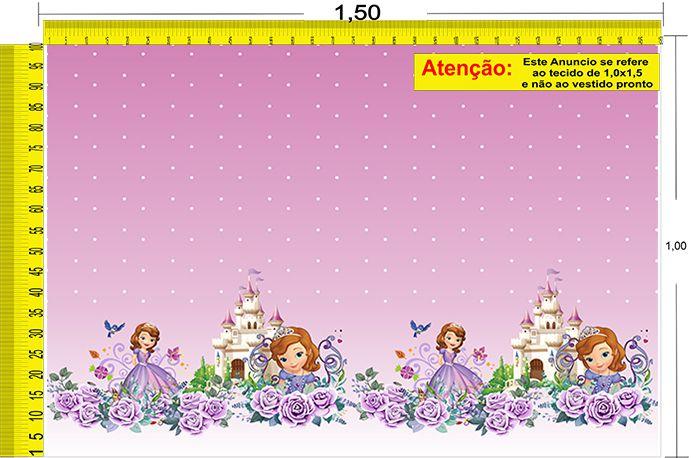 Tecido Temático - Princesinha Sofia 1,0x1,5 #94
