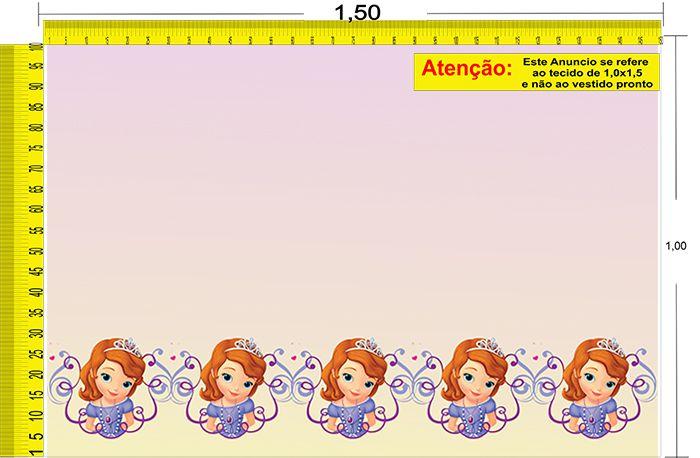 Tecido Temático - Princesinha Sofia 1,0x1,5 #95
