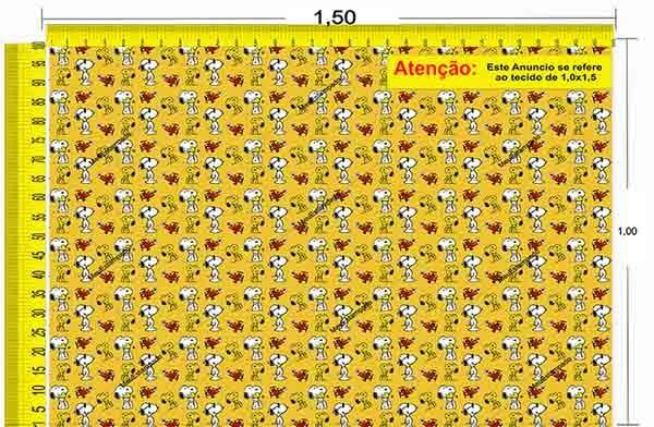 Tecido Temático - Snoopy 1,0x1,5 #152